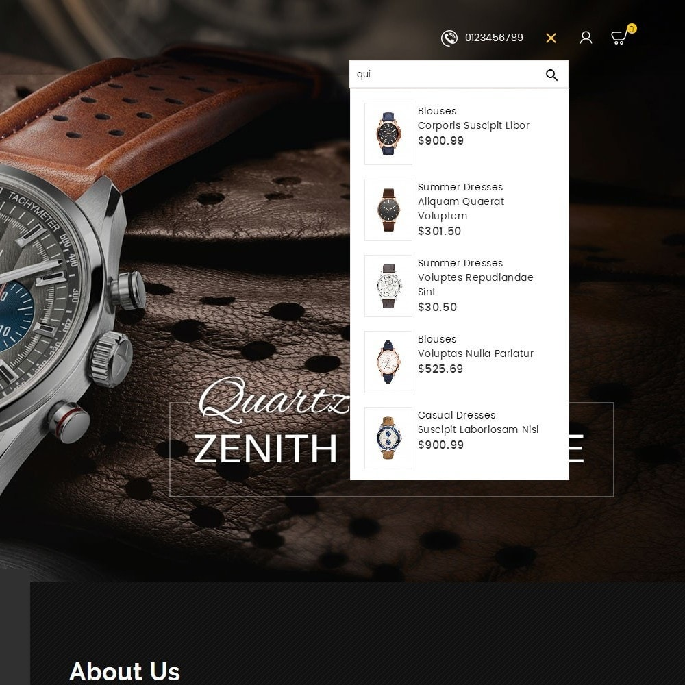 theme - Joalheria & Acessórios - Quartz Watch Store - 10