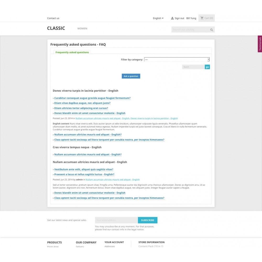 module - Blog, Fórum & Notícias - Content Pack (10 in 1) - 18