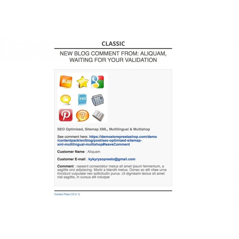 module - Blog, Foro y Noticias - Content Pack (10 in 1) - 71