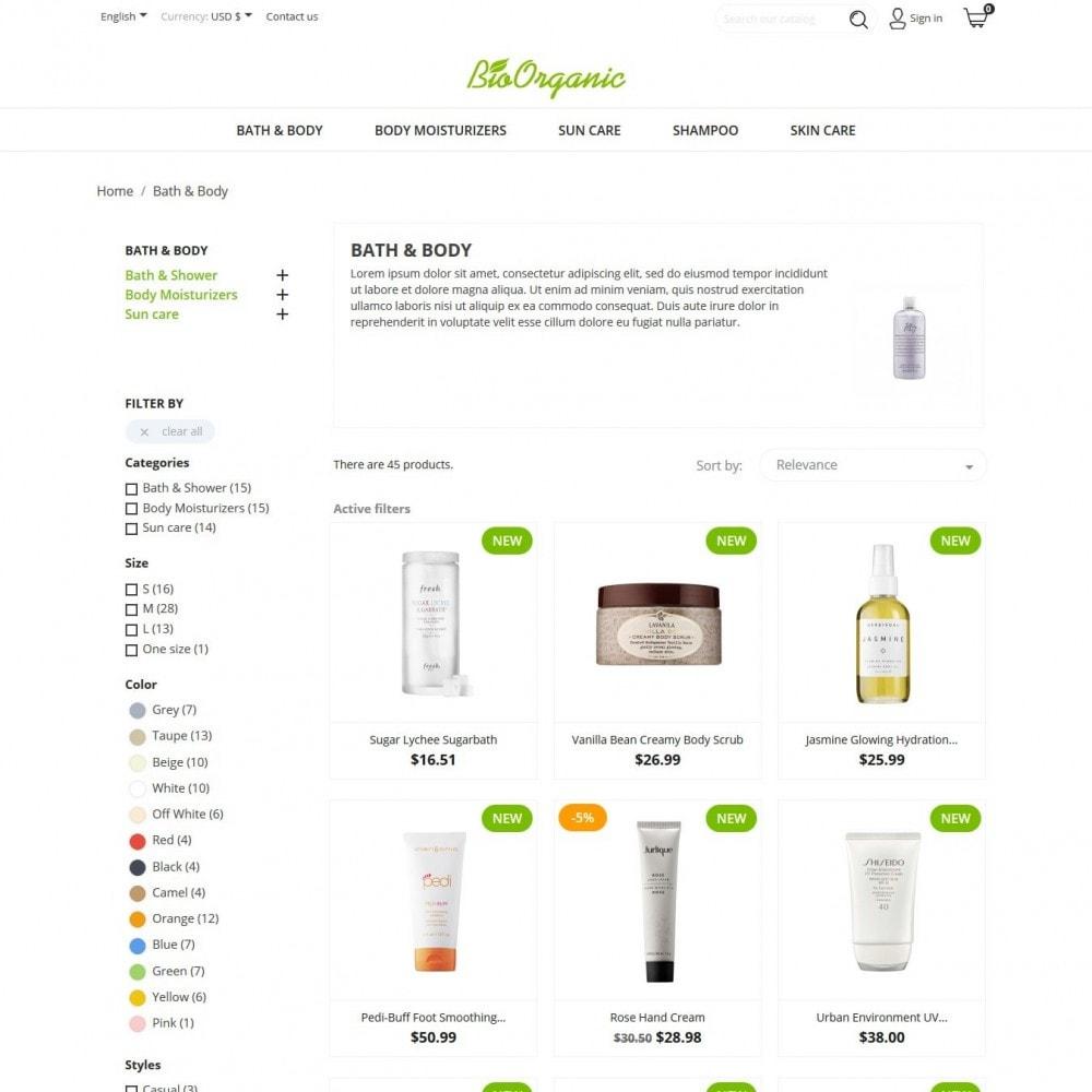 theme - Salud y Belleza - BioOrganic - 4