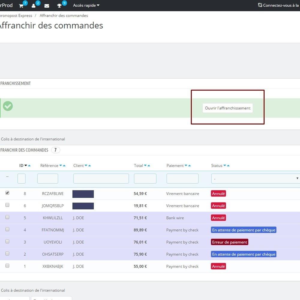 module - Préparation & Expédition - Chronopost API - 3