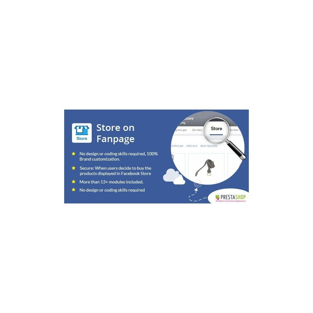 module - Products on Facebook & Social Networks - Store on Fanpage - Open Store to Social Network Pro - 1