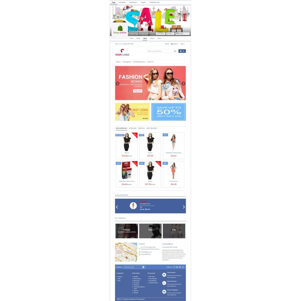 module - Products on Facebook & Social Networks - Store on Fanpage - Open Store to Social Network Pro - 4