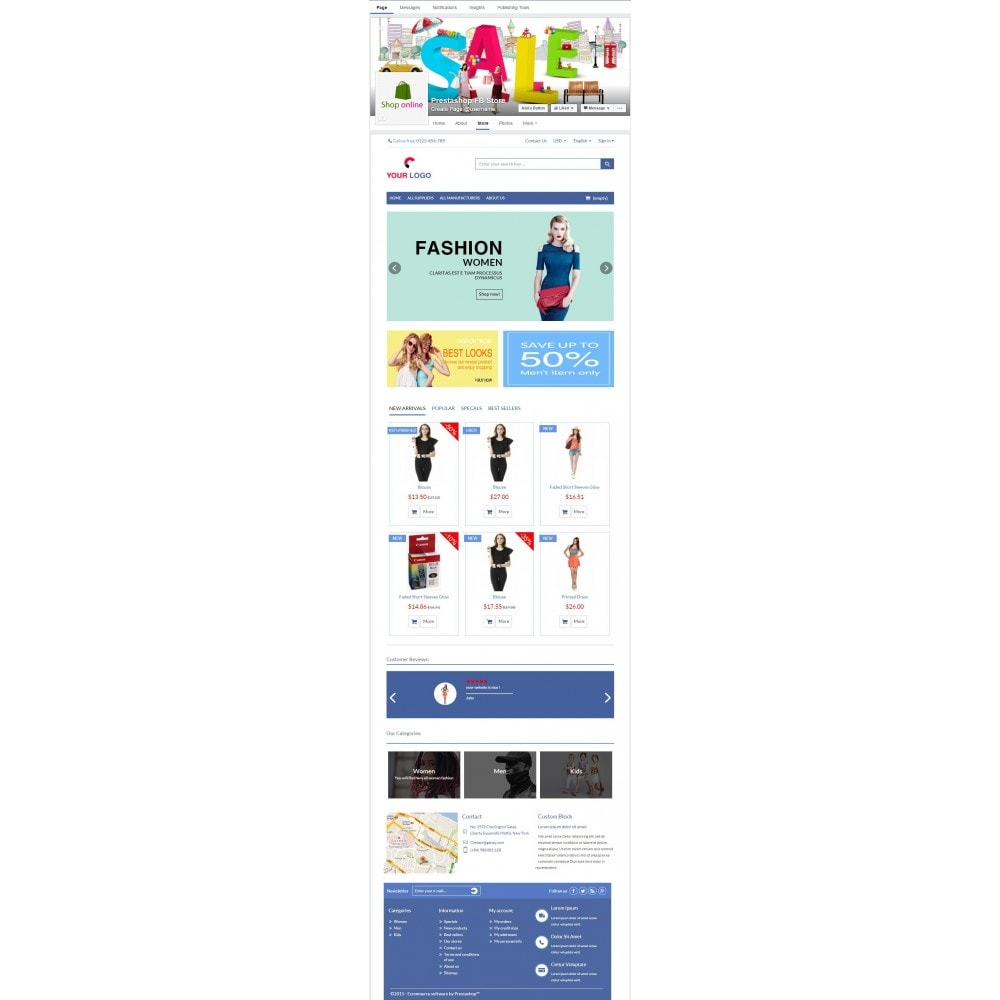 module - Products on Facebook & Social Networks - Store on Fanpage - Open Store to Social Network Pro - 5