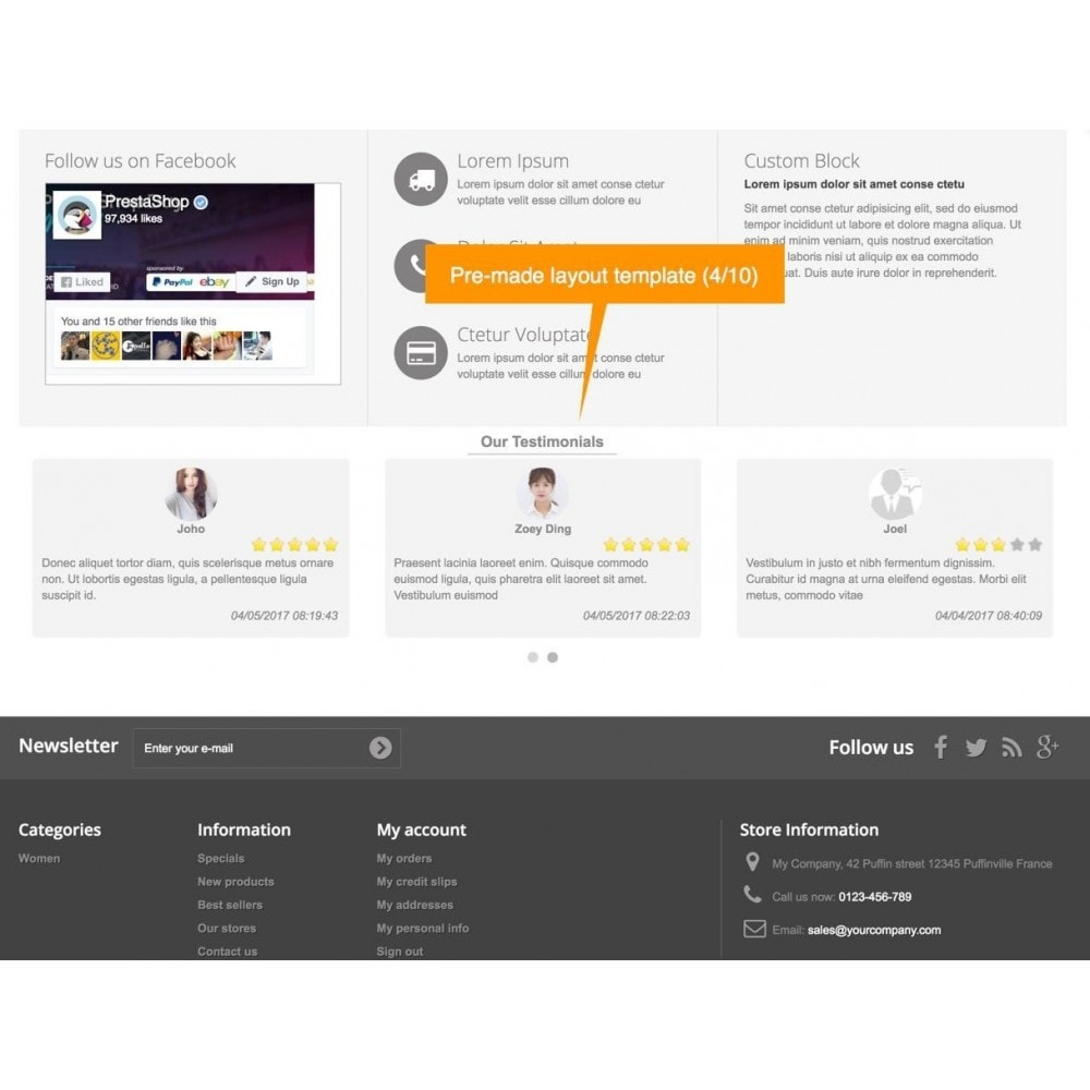 module - Comentarios de clientes - Testimonials and Shop Reviews Pro - 6