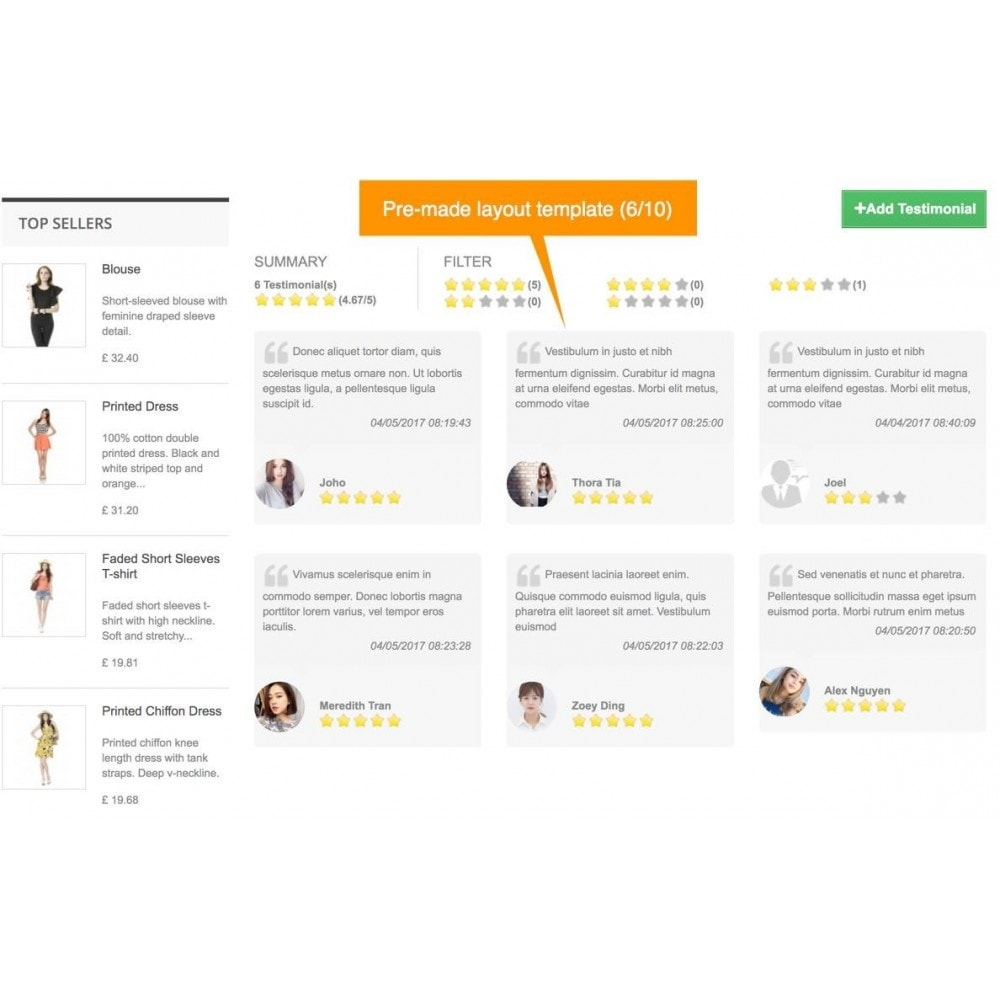 module - Comentarios de clientes - Testimonials and Shop Reviews Pro - 8
