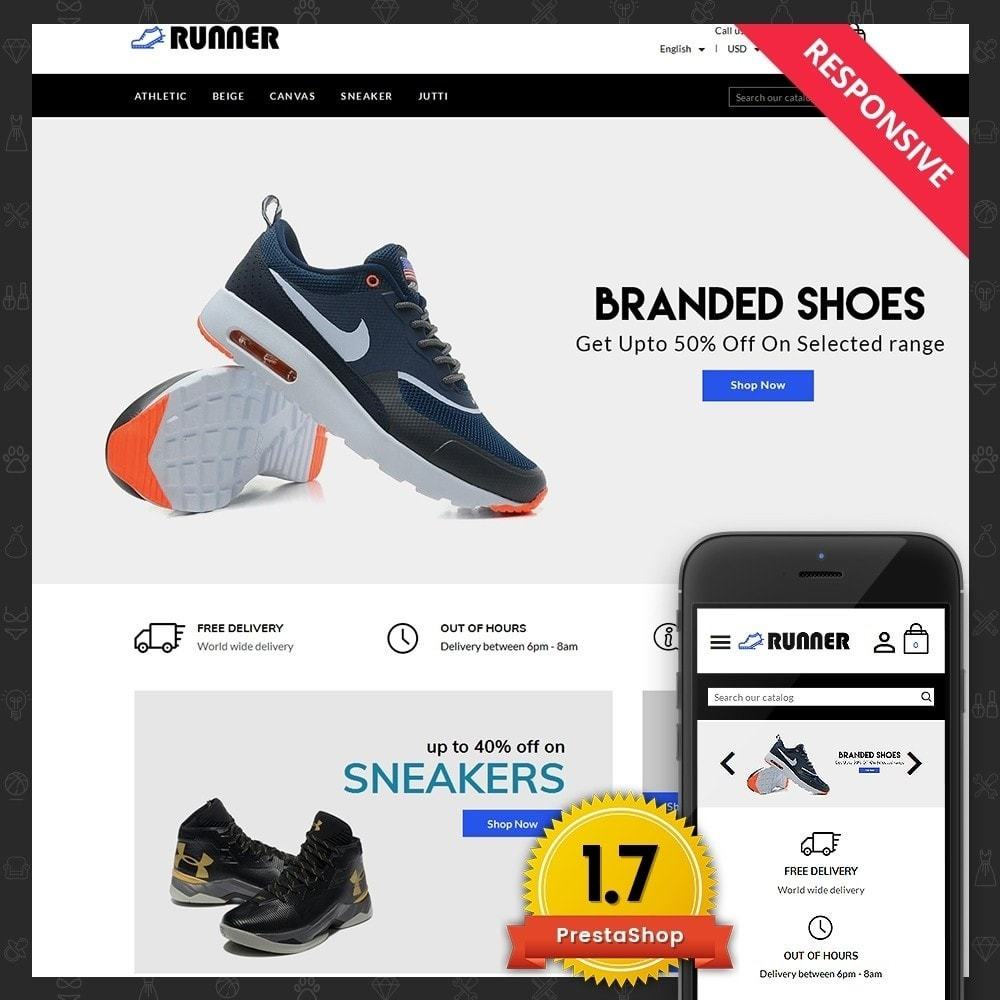 theme - Mode & Chaussures - Runner Shoes Store - 1