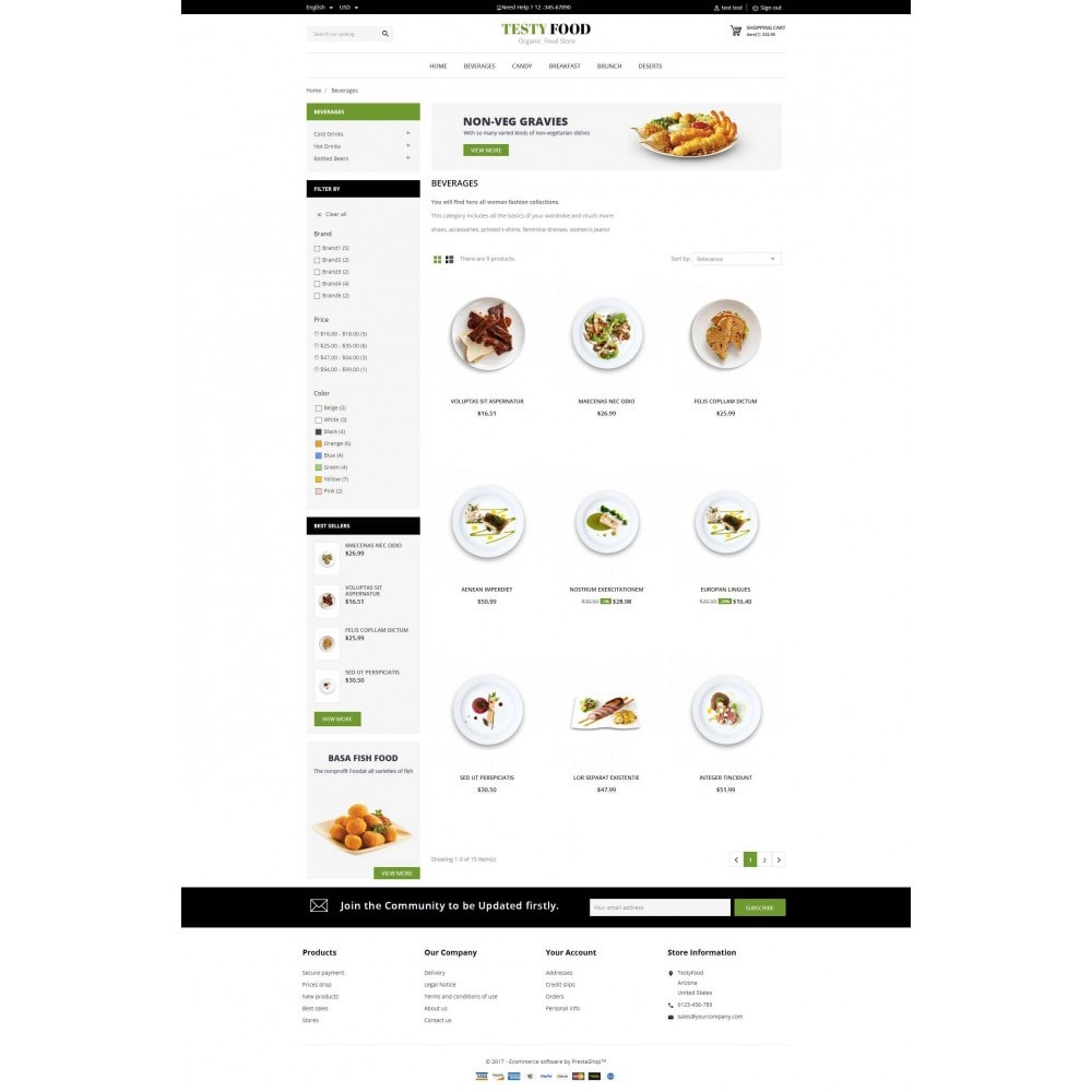 theme - Eten & Restaurant - TestyFood - 3