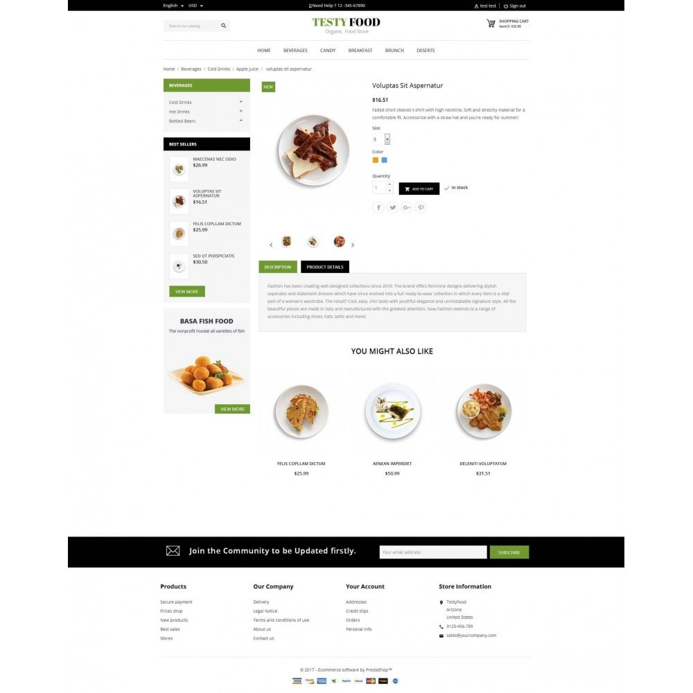 theme - Żywność & Restauracje - TestyFood - 5