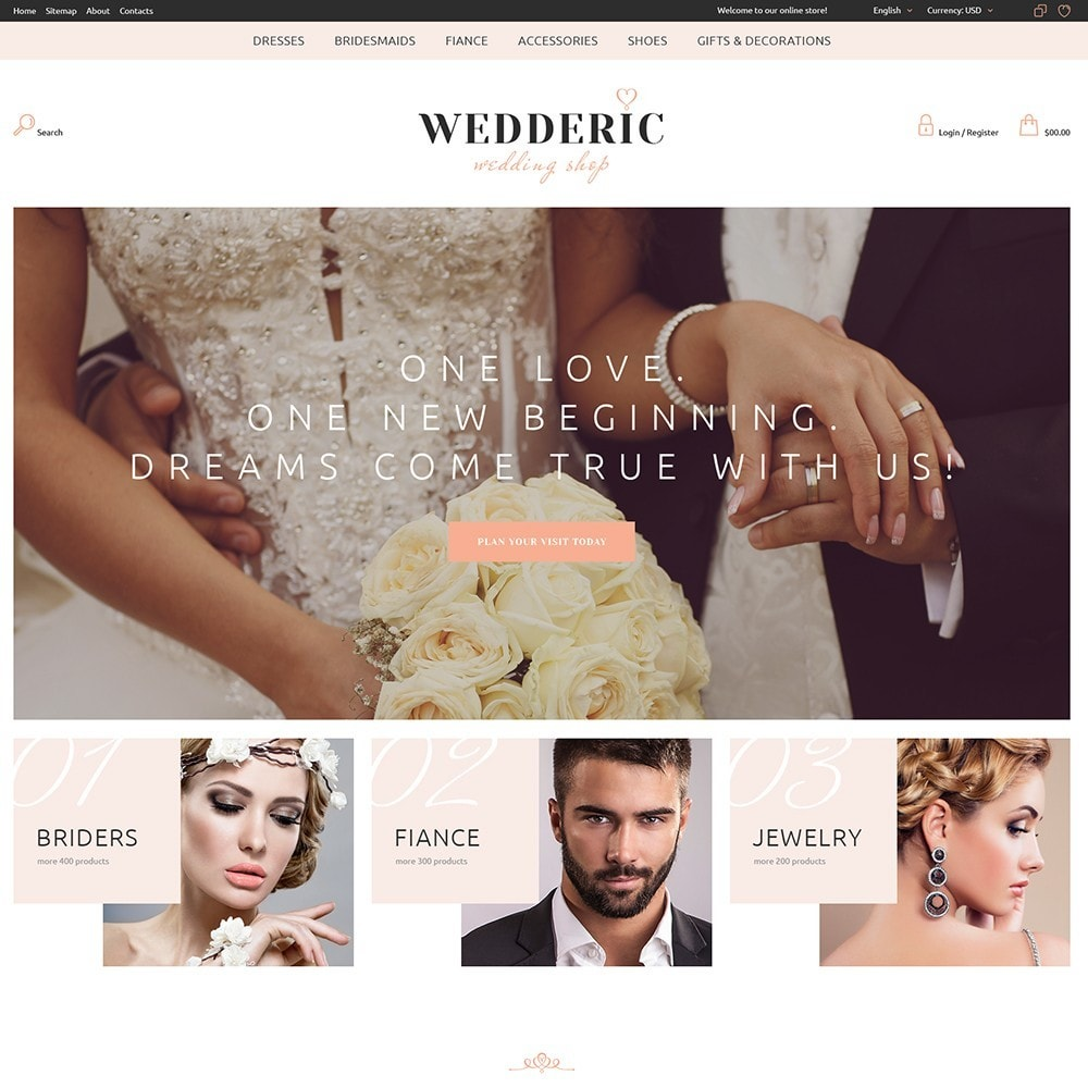 theme - Gifts, Flowers & Celebrations - Wedderic - Wedding Shop - 3