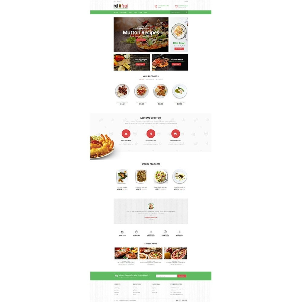 theme - Food & Restaurant - Hotfood Demo Store - 2
