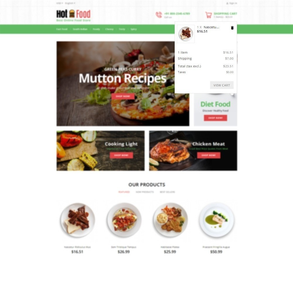 theme - Food & Restaurant - Hotfood Demo Store - 6