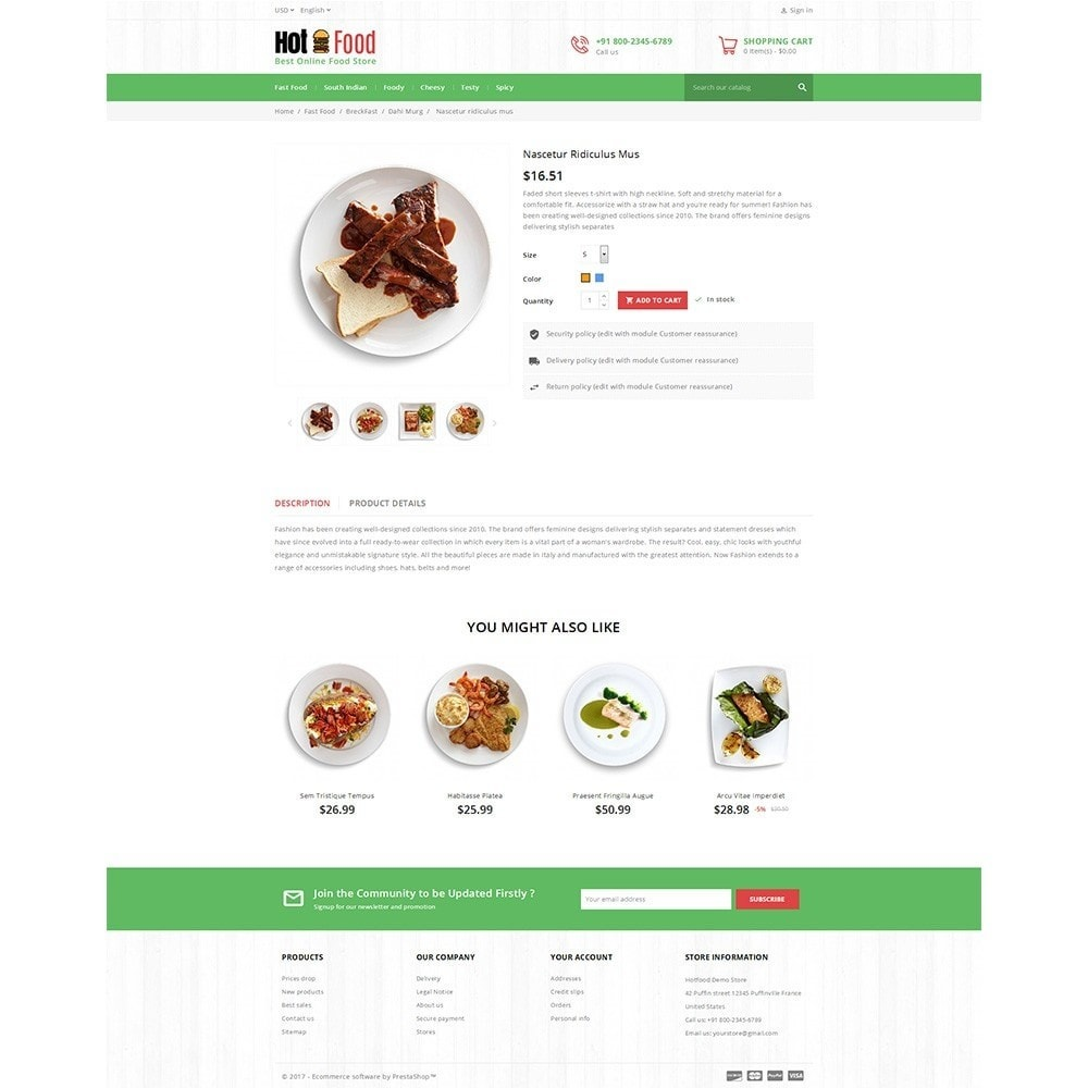 theme - Food & Restaurant - Hotfood Demo Store - 5