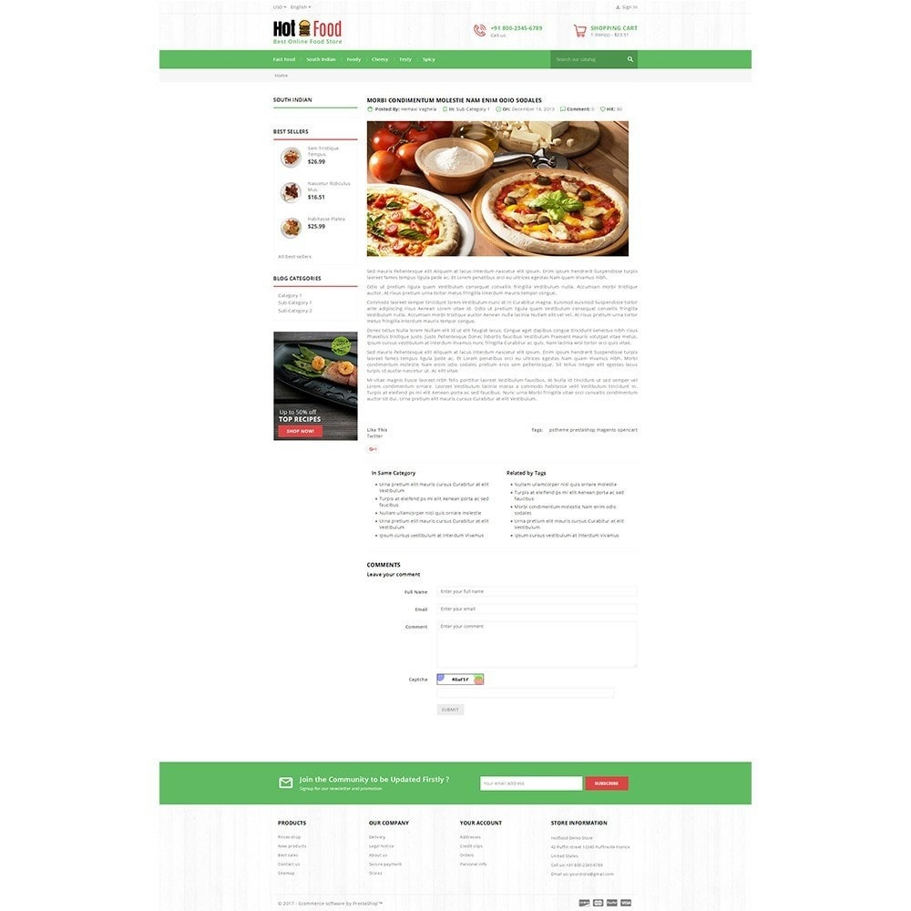 theme - Food & Restaurant - Hotfood Demo Store - 8