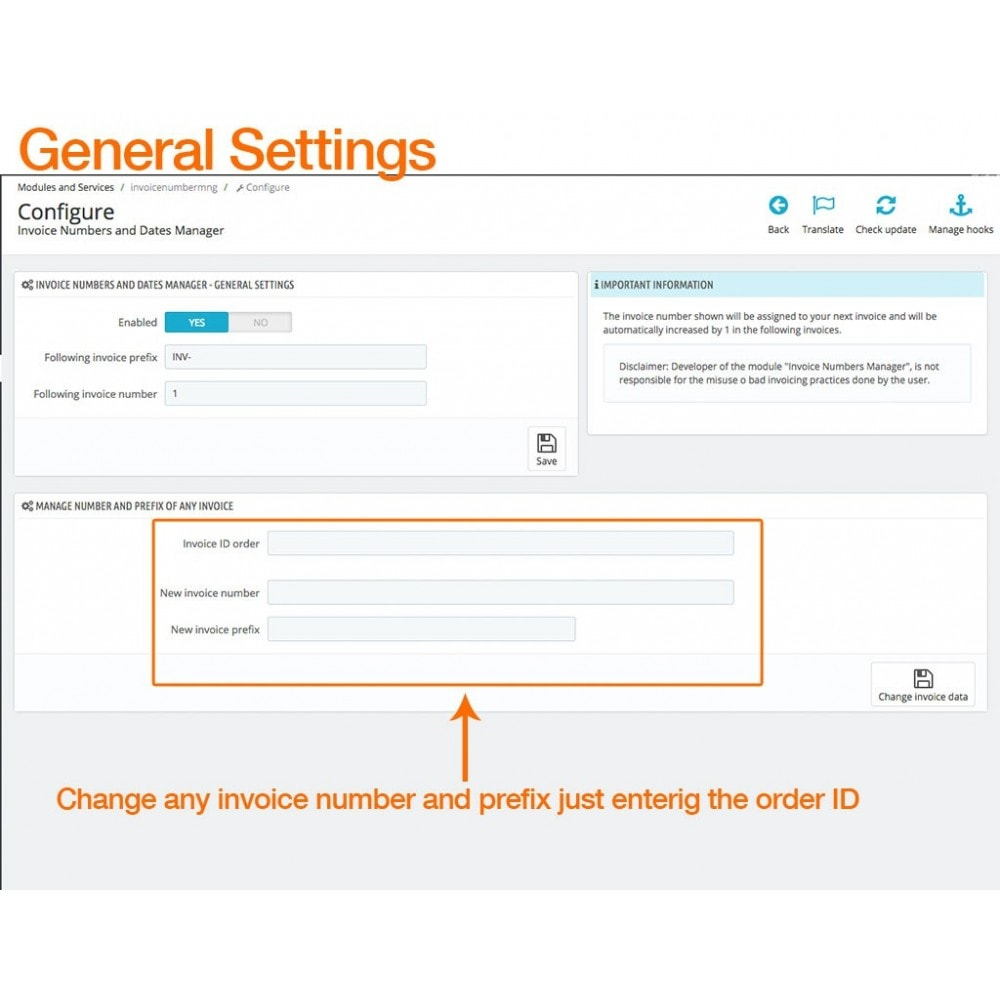 module - Boekhouding en fakturatie - Invoice Numbers and Dates Manager - 2