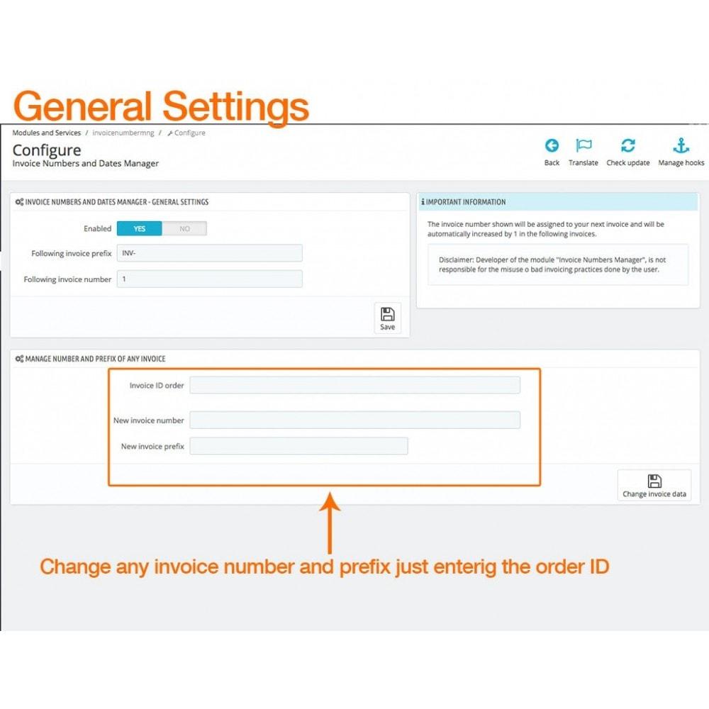 module - Бухгалтерии и выставления счетов - Invoice Numbers and Dates Manager - 2