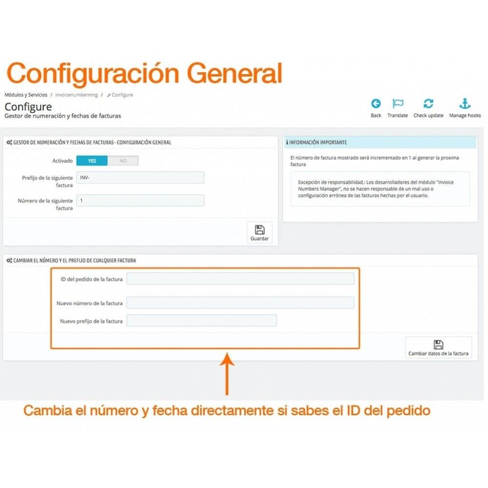 module - Contabilidad y Facturas - Gestiona tus números y fechas de factura libremente - 2