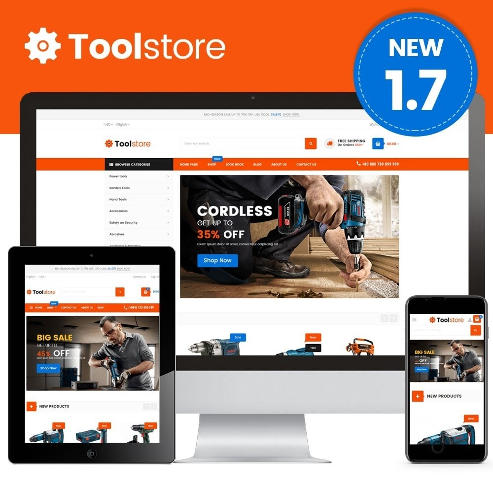 theme - Carros & Motos - Tools Store - 1