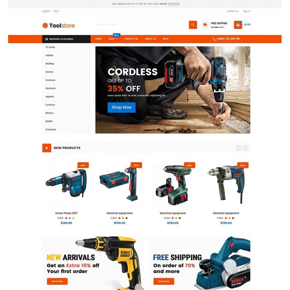 theme - Carros & Motos - Tools Store - 2