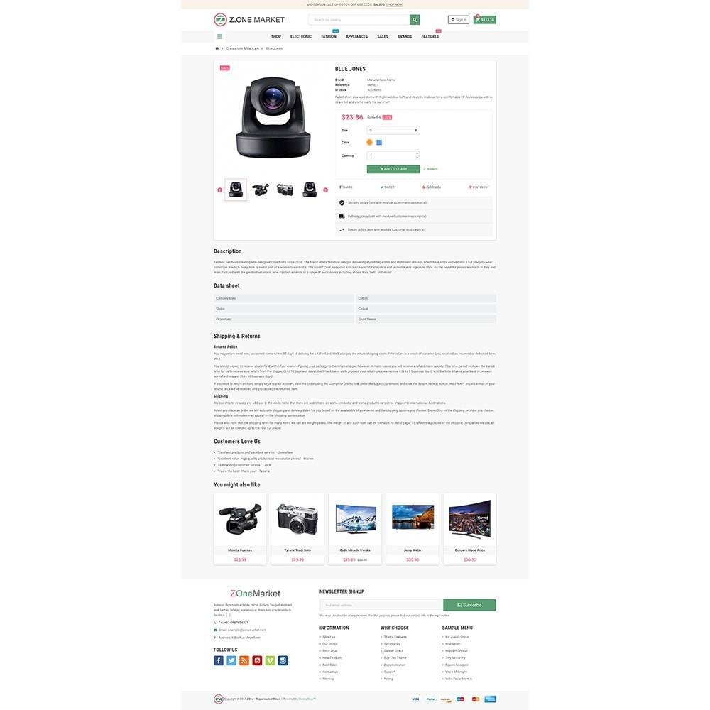 theme - Eletrônicos & High Tech - ZOne - Supermarket Online Shop - 6