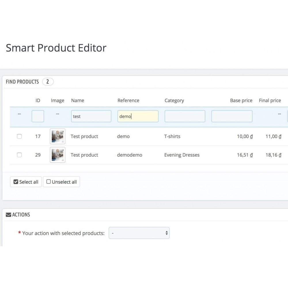 module - Быстрое & массовое редактирование - Smart Product Editor - 3
