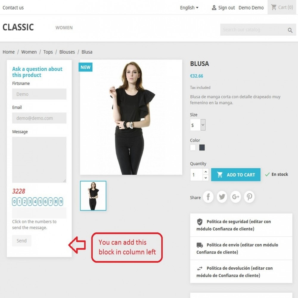 module - Kontaktformular & Umfragen - Block Contact Form Product - 1