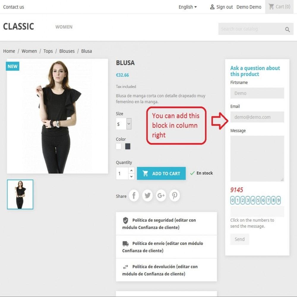 module - Kontaktformular & Umfragen - Block Contact Form Product - 2