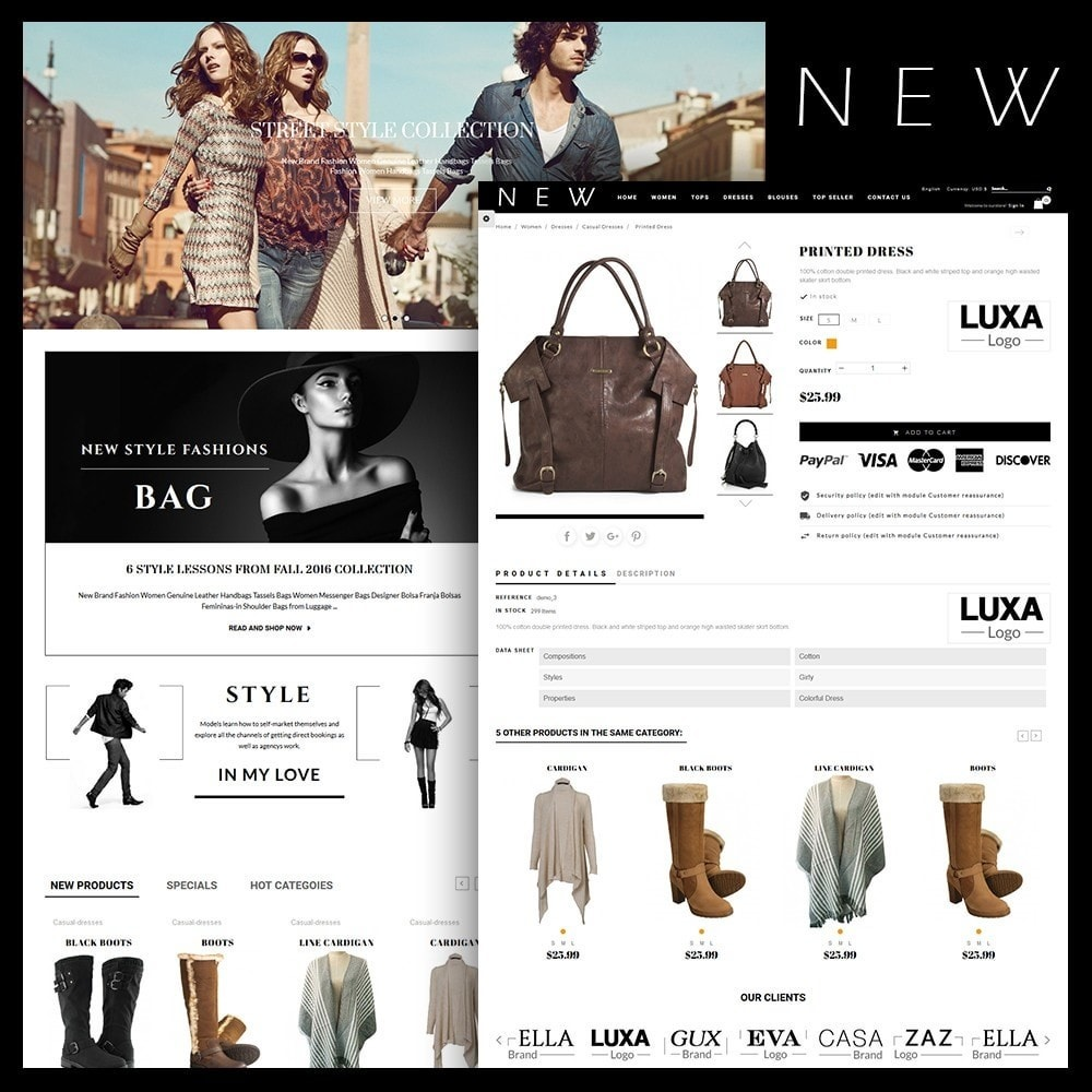 theme - Mode & Chaussures - New Style Fashion Store - 1