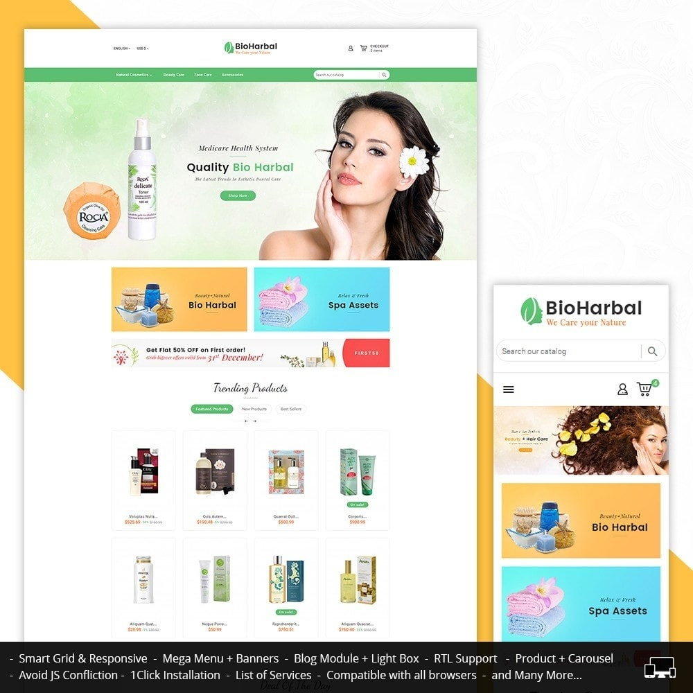 theme - Health & Beauty - Bio Cosmetics Store - 1