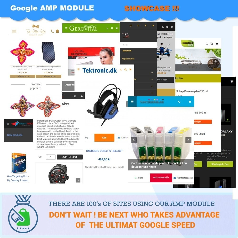 module - Website Performance - PROFESSIONAL AMP PAGES - ACCELERATED MOBILE PAGES - 10