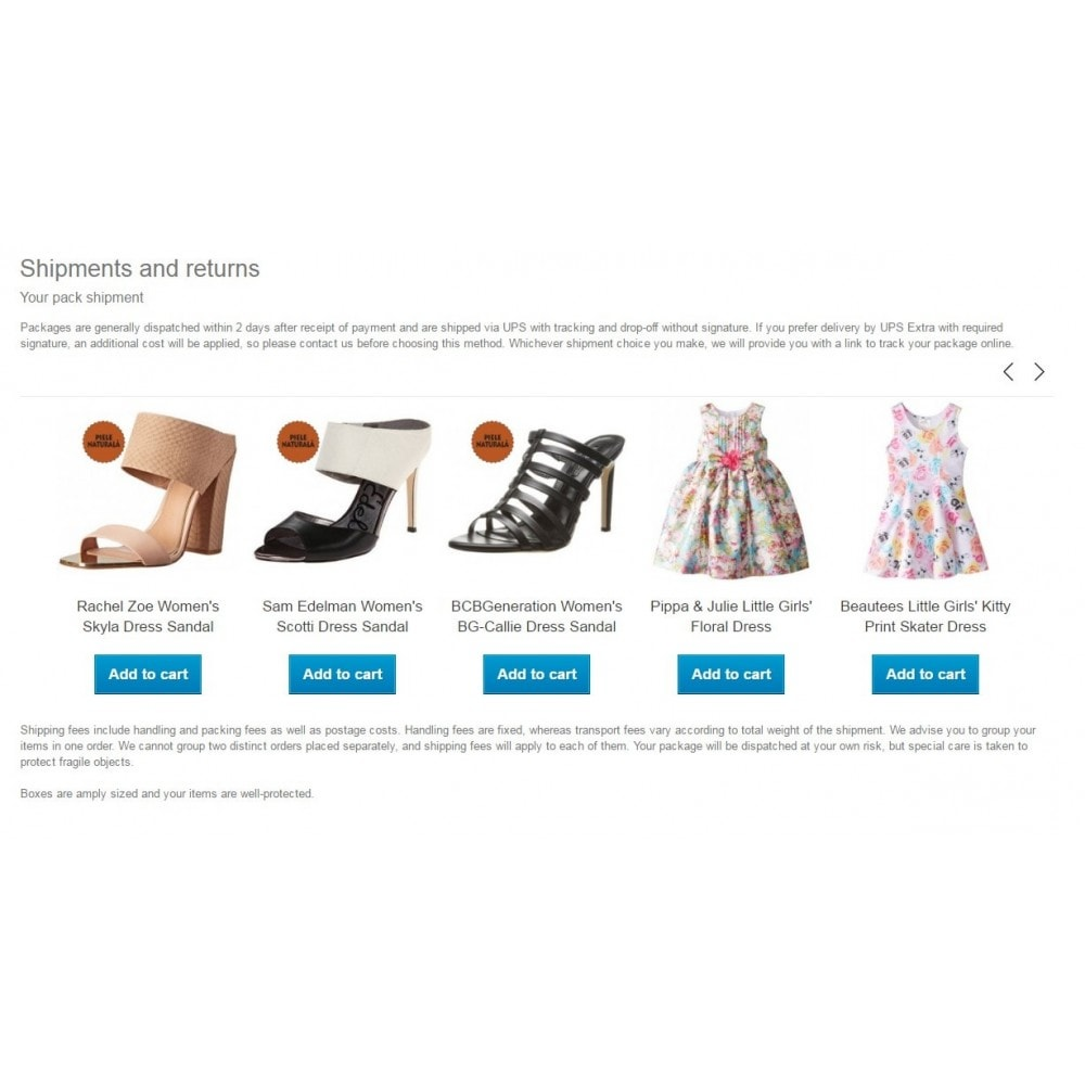 module - Zusatzinformationen & Produkt-Tabs - CMS products / Show products in CMS pages - 1