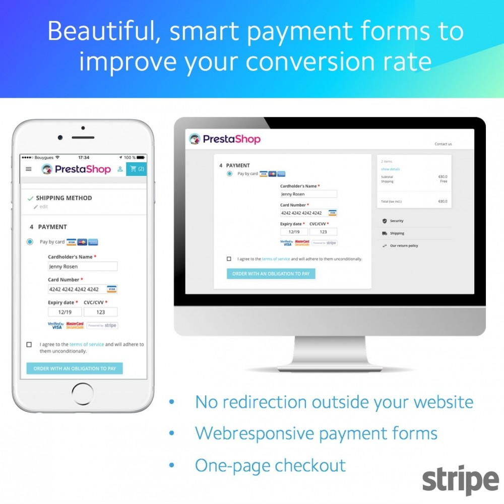 module - Payment by Card or Wallet - Stripe Official (SCA-ready) - 1
