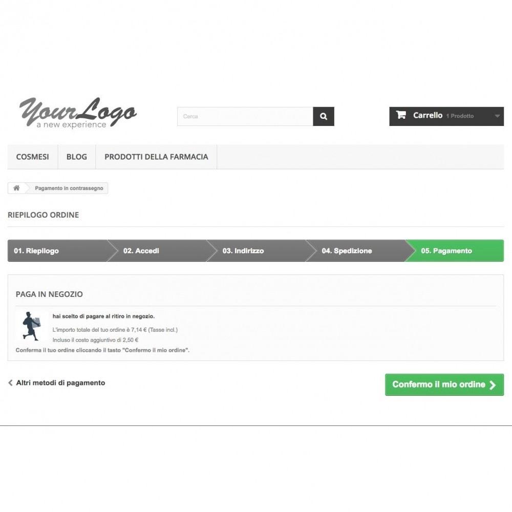 module - Pagamento alla Consegna (in contrassegno) - Contrassegno con fee e pagamento in negozio - 2