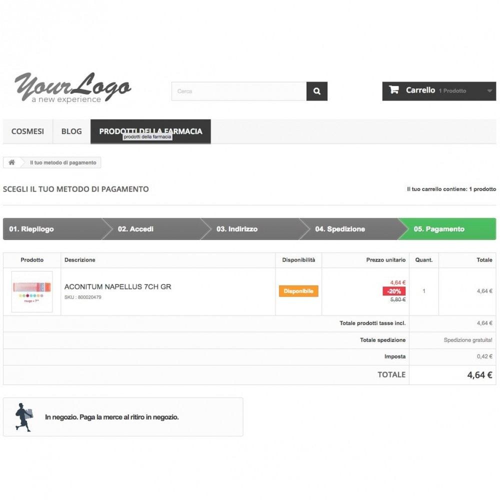 module - Pagamento alla Consegna (in contrassegno) - Contrassegno con fee e pagamento in negozio - 5