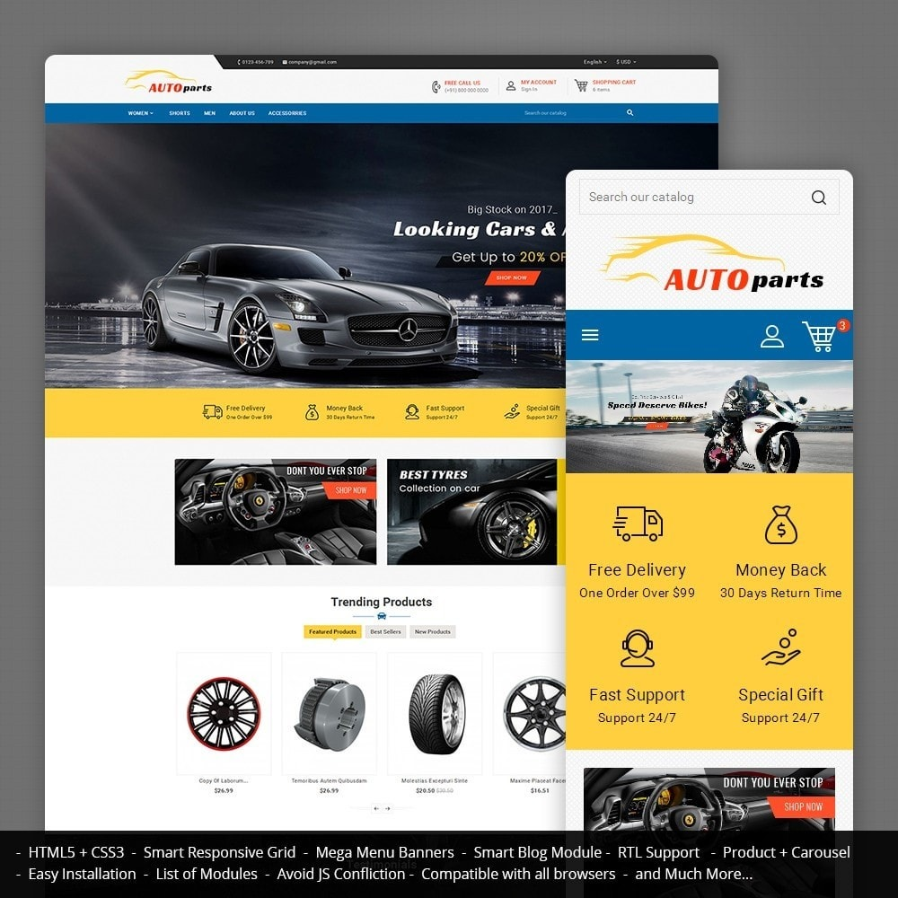 theme - Carros & Motos - Auto Parts - 1