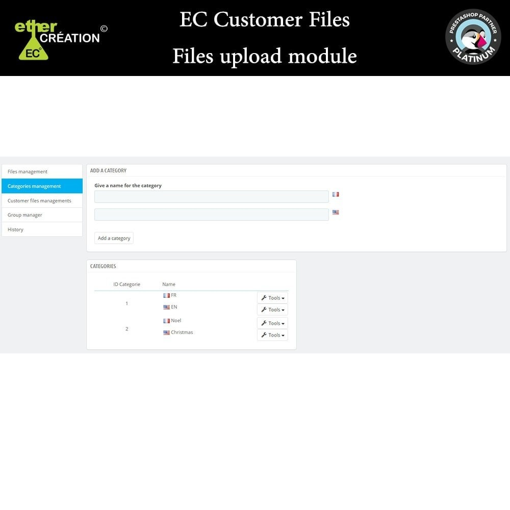 module - Klantenservice - Provision of files for customers - 3