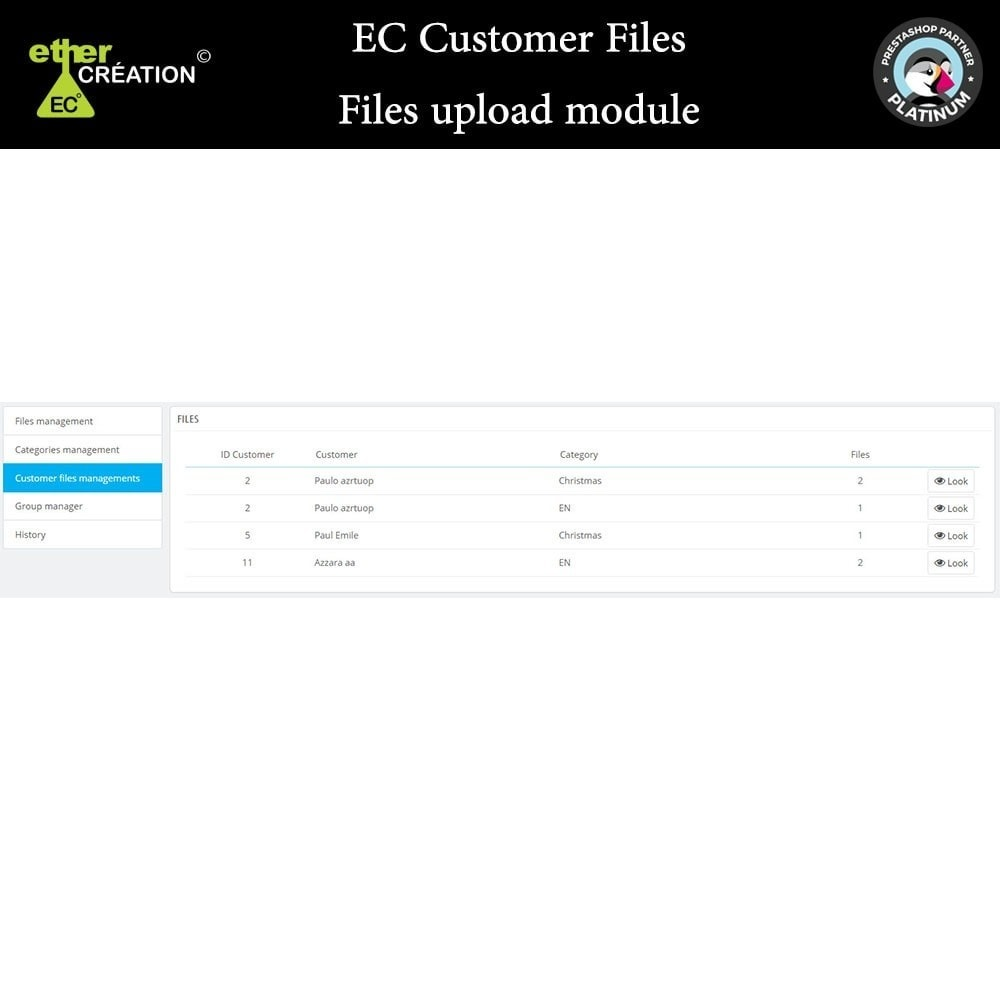 module - Klantenservice - Provision of files for customers - 4