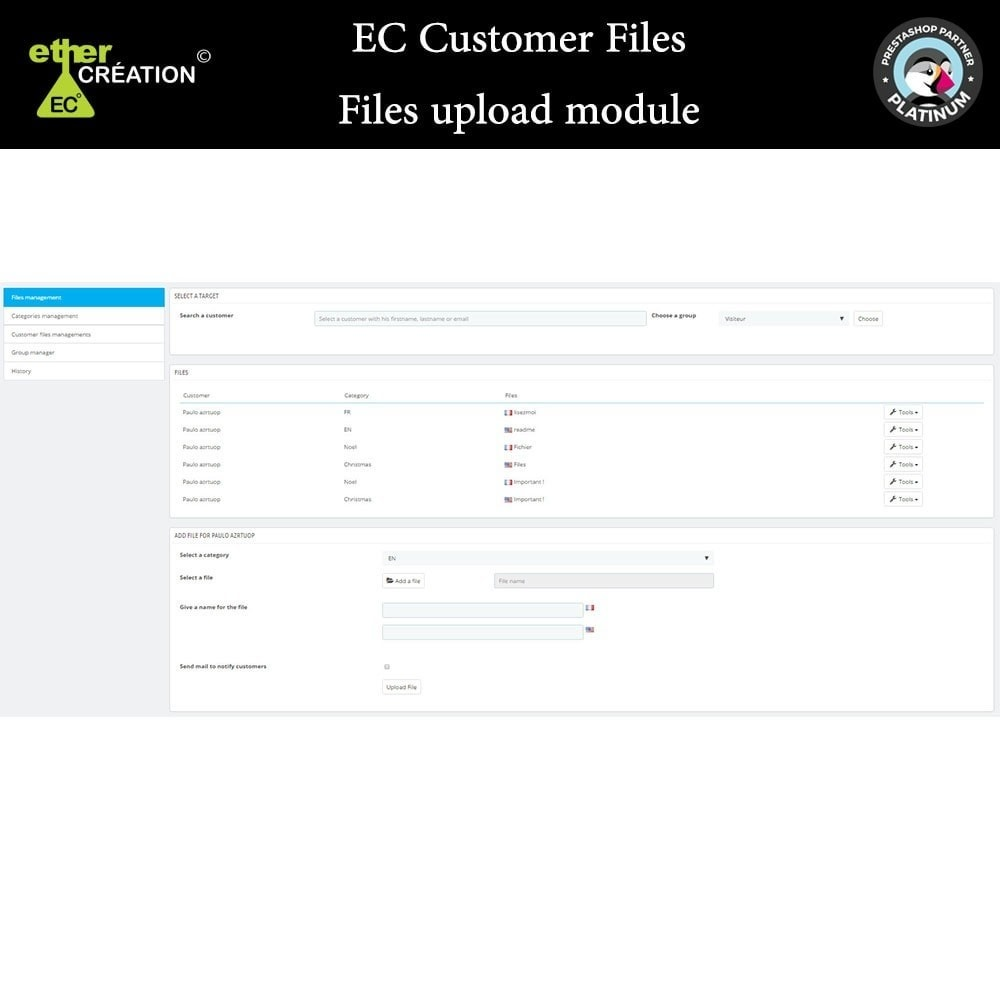 module - Klantenservice - Provision of files for customers - 5