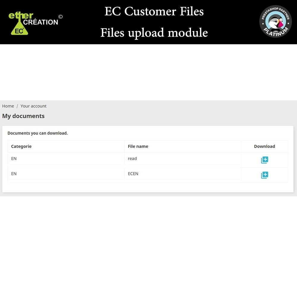 module - Klantenservice - Provision of files for customers - 7