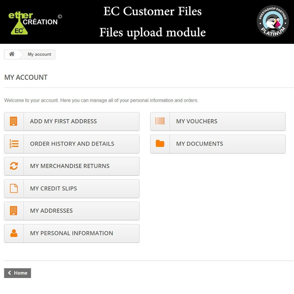 module - Klantenservice - Provision of files for customers - 8