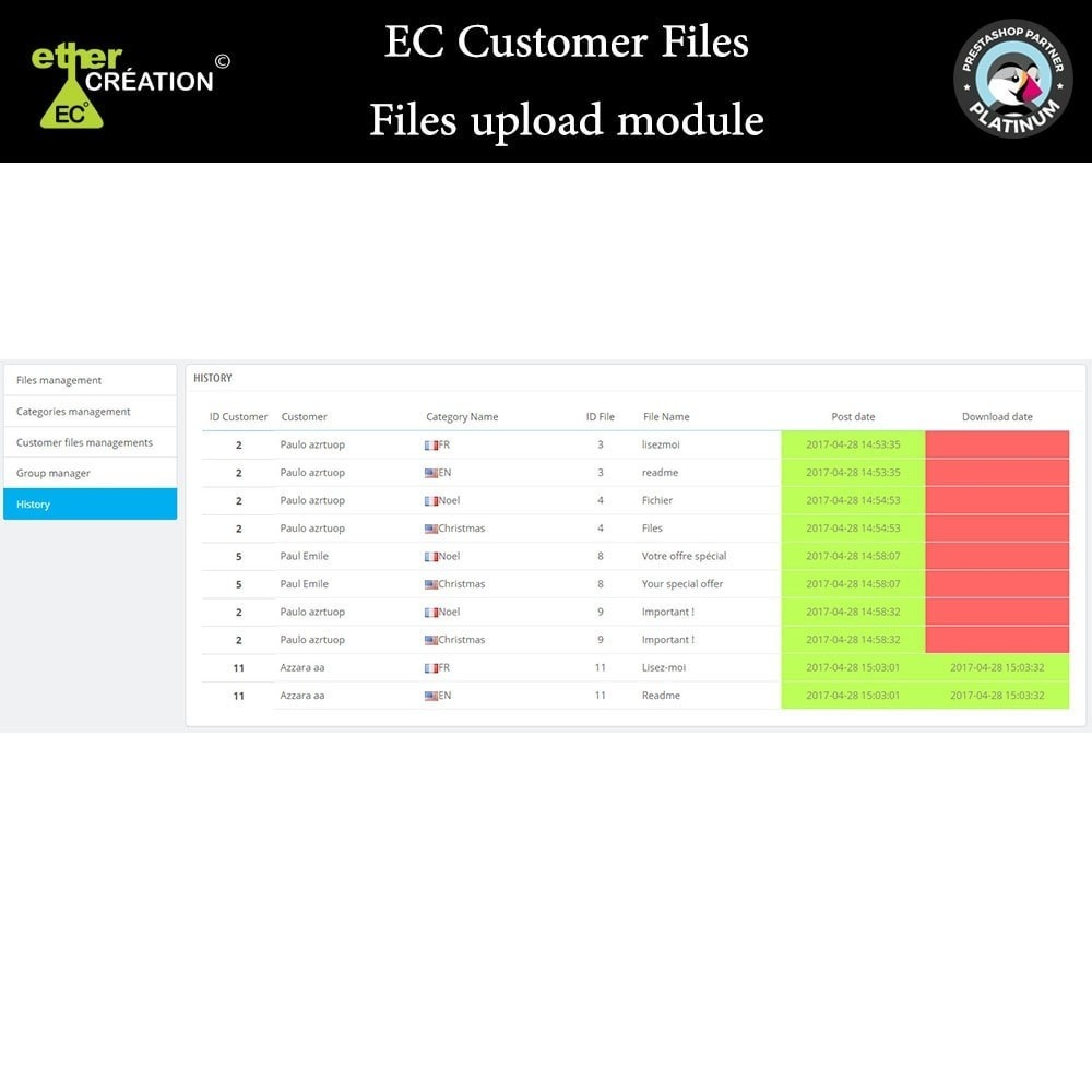 module - Klantenservice - Provision of files for customers - 11