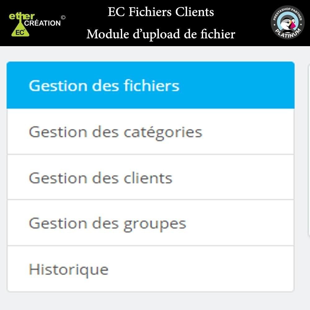 module - Service Client - Mise à disposition de fichiers pour les clients - 13