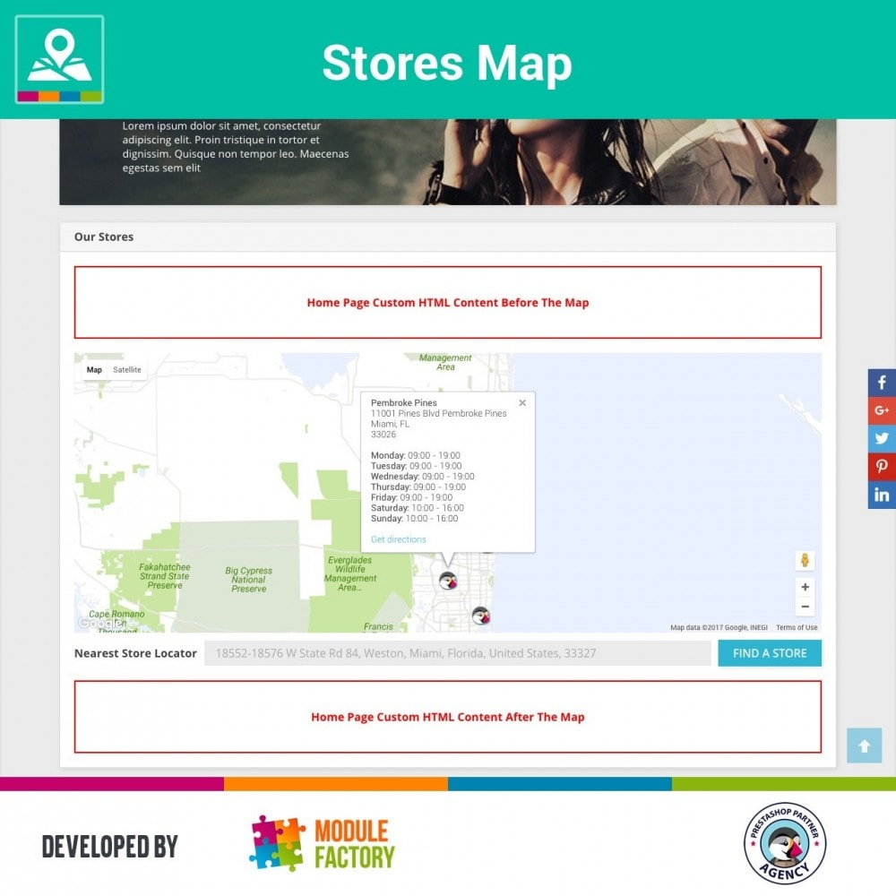 module - Internacional & Localização - Stores Map on Home Page + Custom Page - 1
