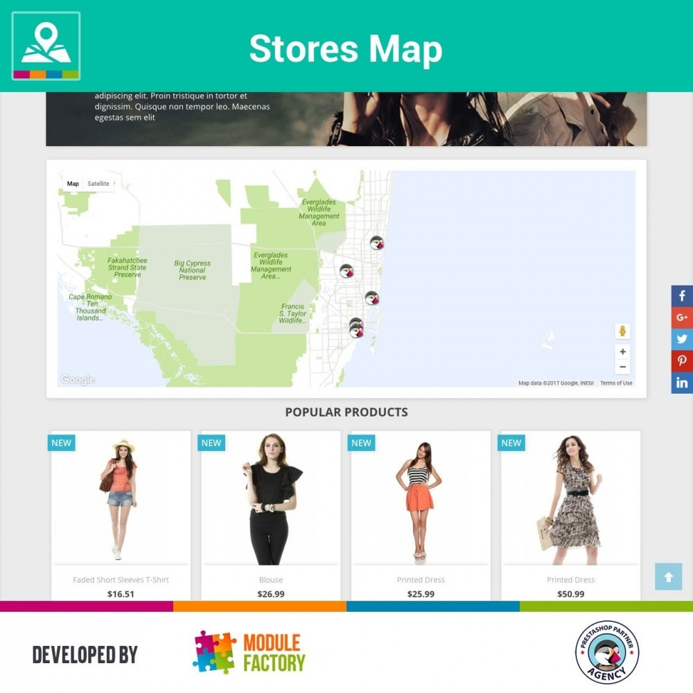 module - Internacional & Localização - Stores Map on Home Page + Custom Page - 2