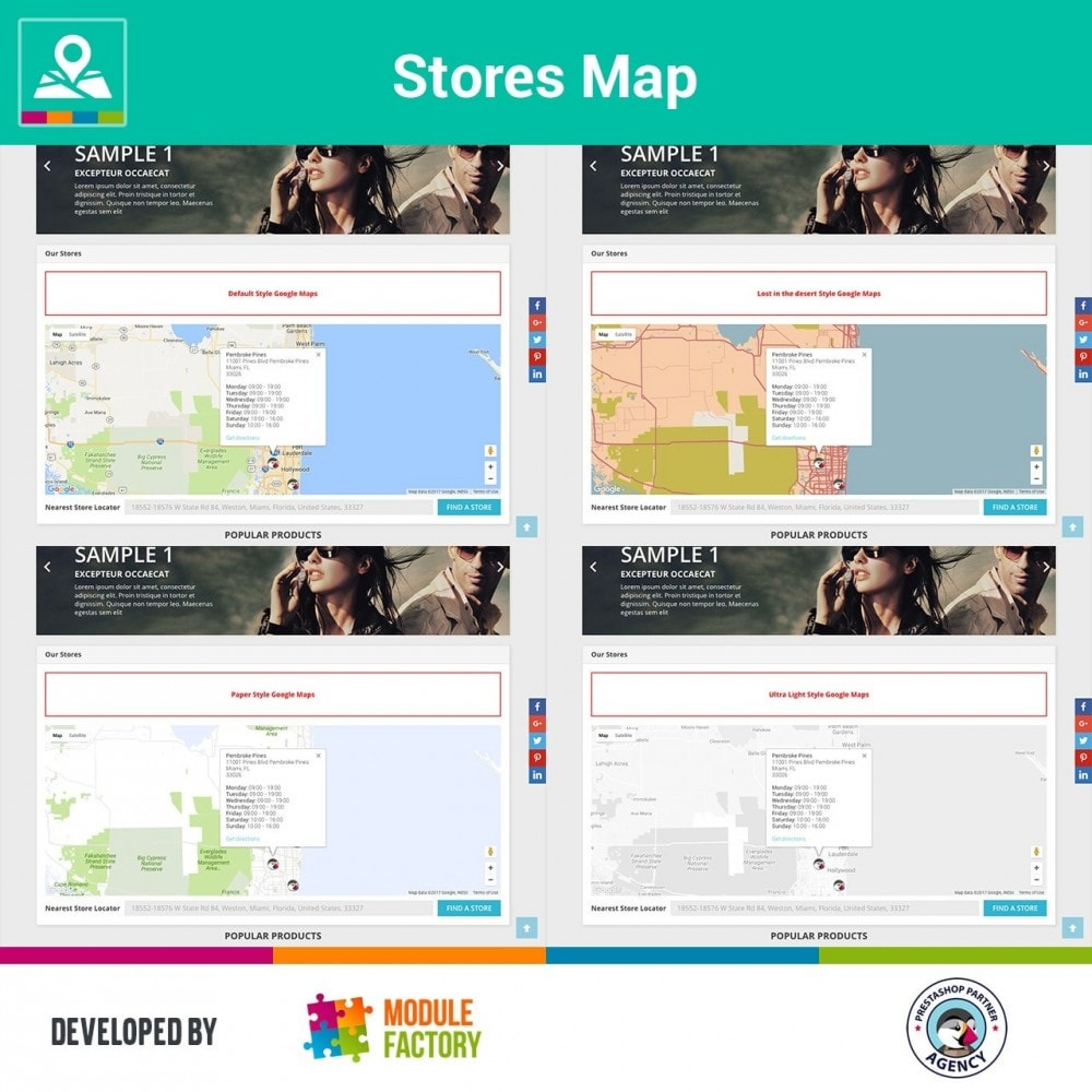 module - Internacional & Localização - Stores Map on Home Page + Custom Page - 3