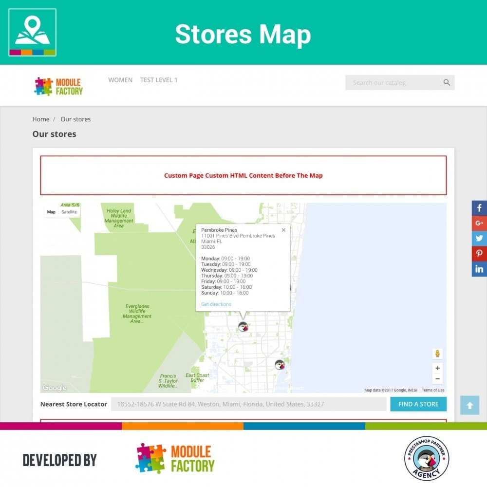 module - Internacional & Localização - Stores Map on Home Page + Custom Page - 4