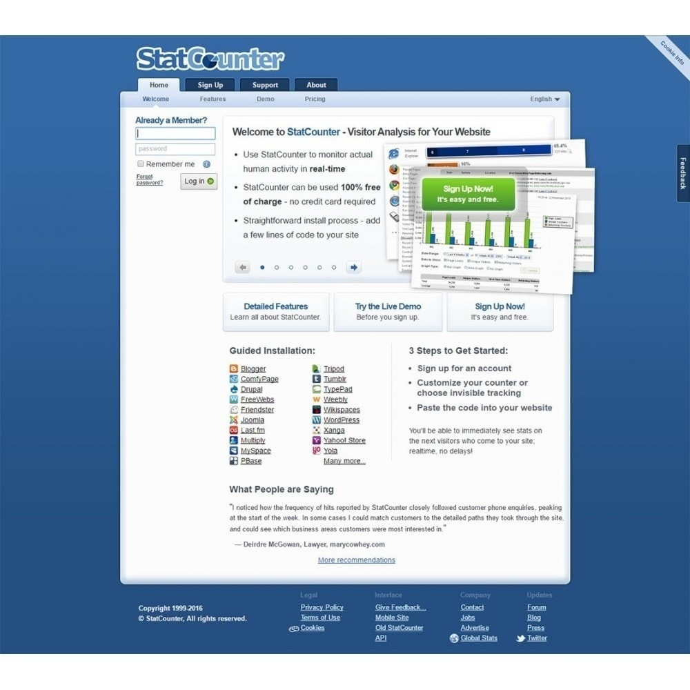 module - Analytics & Statistiche - Web Traffic Analysis using Statcounter Tool - 2