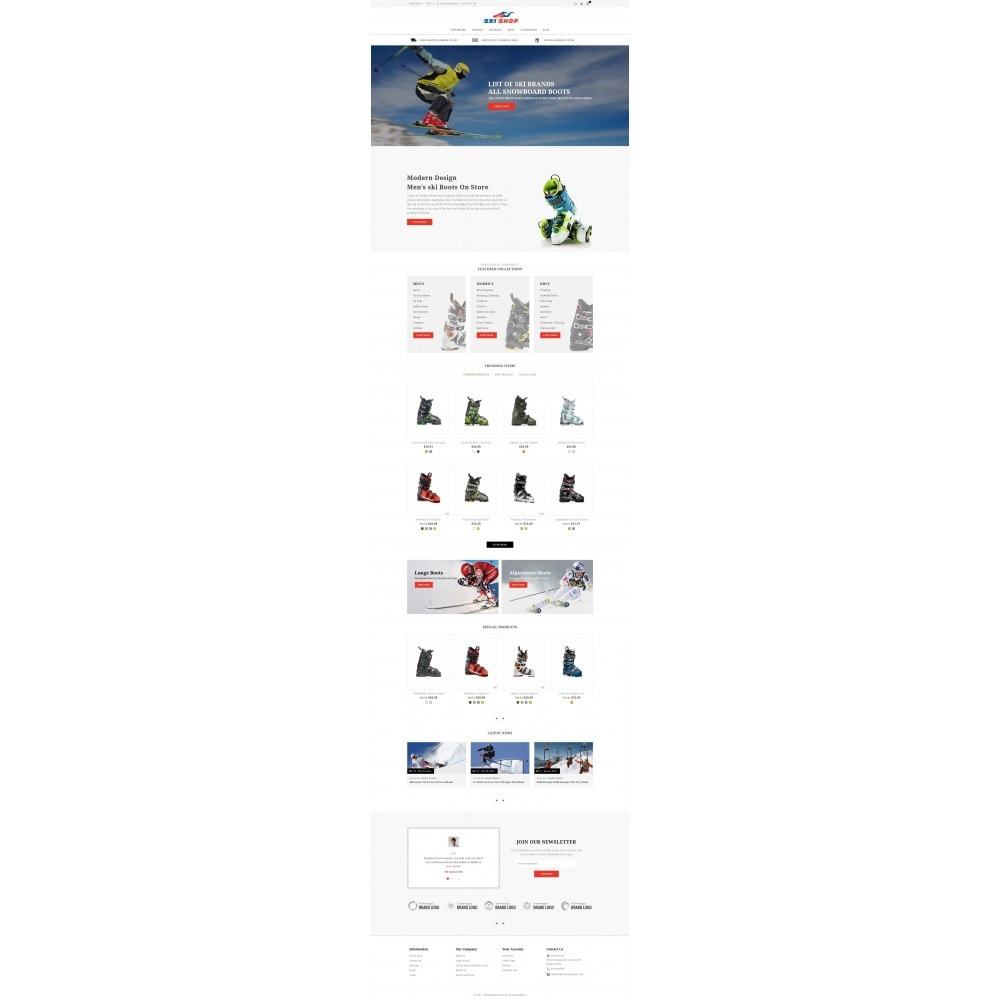 theme - Sports, Activities & Travel - Skishop - Online Ski Store - 2
