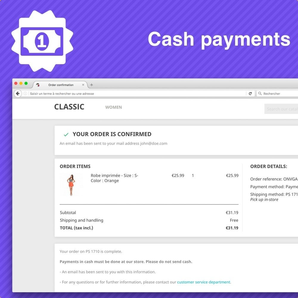 module - Payment in Physical Stores - Cash payment - 2