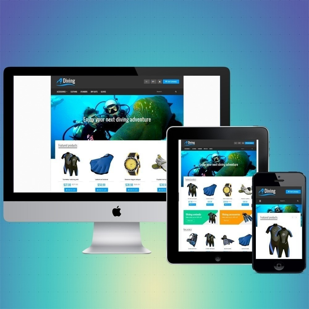 theme - Sport, Loisirs & Voyage - VP_Diving Store - 1